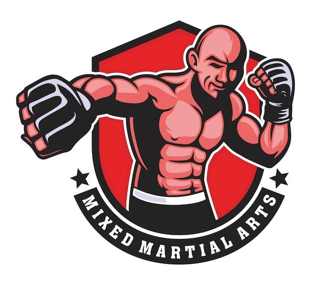 Golpe de hombre de boxeo