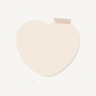 Goodnotes stickers vector elemento de notas adhesivas en forma de corazón