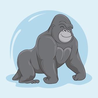 Gorila de dibujos animados animales king kong