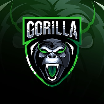 Gorila mascota logo esport