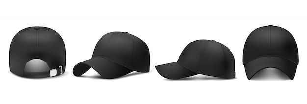 Gorra negra, estilo realista.