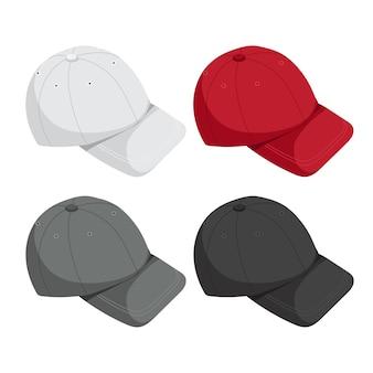 Gorras simulando colección