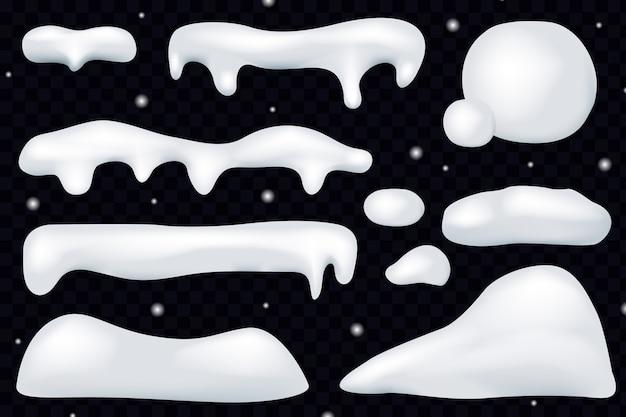 Gorro de nieve invierno decoración navideña