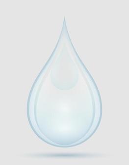 Gota de agua lluvia o spray