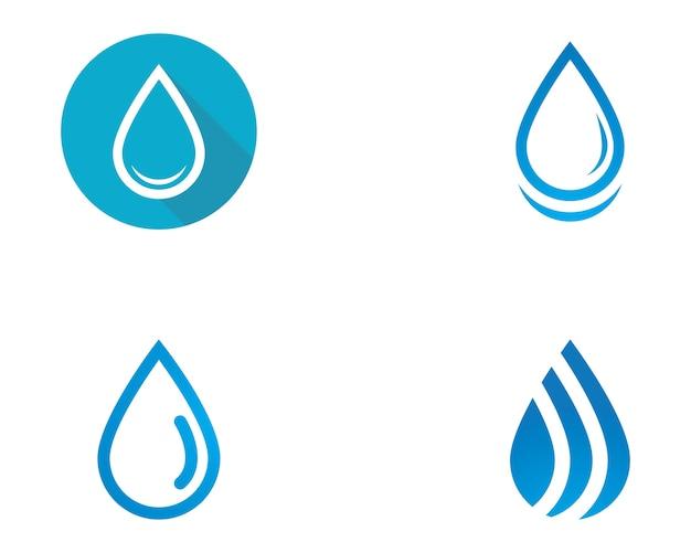 Gota de agua logo template
