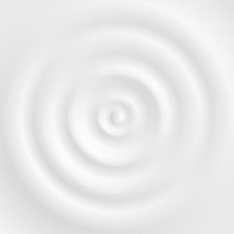 Gota cayendo sobre yogur con vista superior de onda de salpicadura