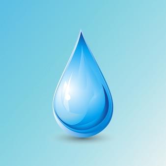 Gota sobre fondo azul, día mundial del agua