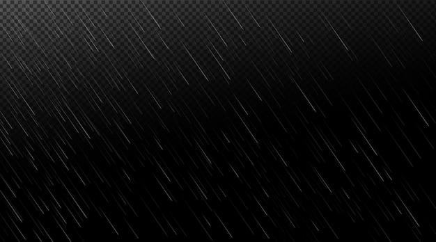 Gotas de agua cayendo en la oscuridad