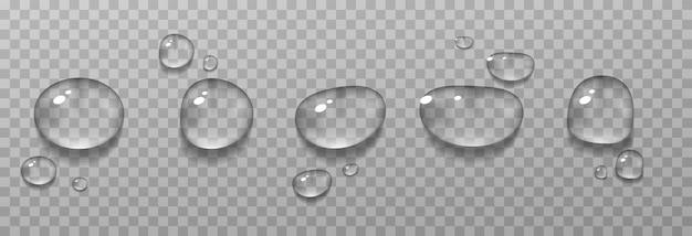 Gotas de agua realistas de ilustración de condensación