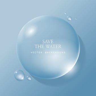 Gotas de agua transparente, gota de agua