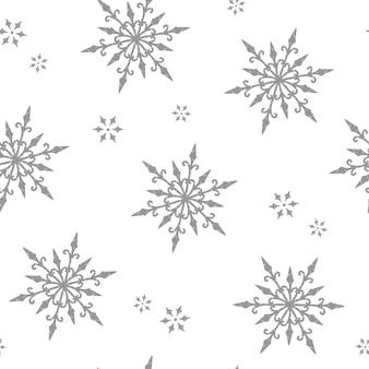 Gothic snowflakes seamless pattern