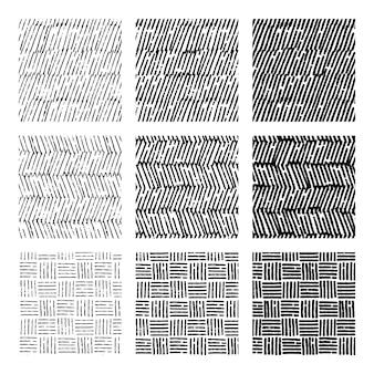 Grabado de patrones dibujados a mano