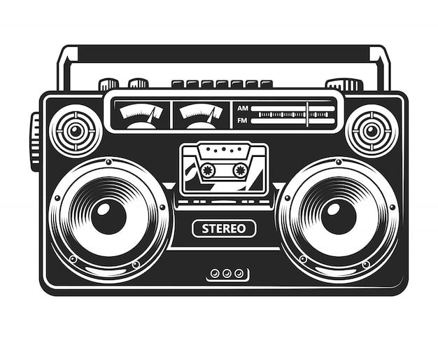 Grabadora vintage o concepto boombox
