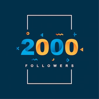 Gracias 2000 seguidores
