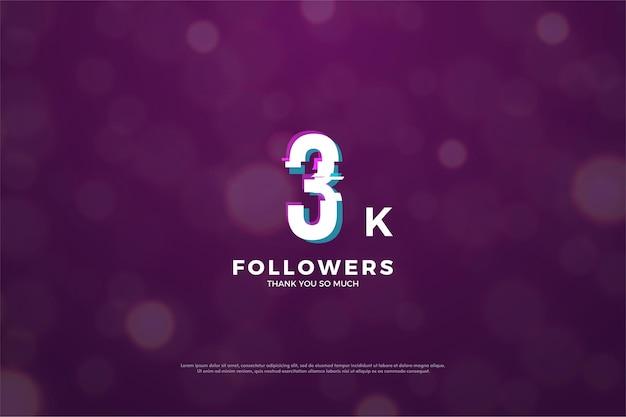 Gracias a los 3000 seguidores, el efecto numérico se corta en paz.