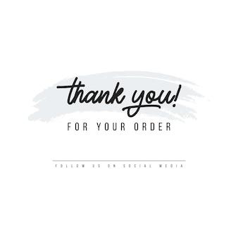 Gracias por el diseño de la tarjeta de pedido para el vector de ilustración de compradores en línea