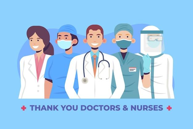 Gracias doctores y enfermeras