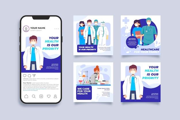 Gracias historias de publicaciones médicas personales