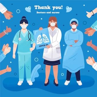 Gracias a los médicos de primera línea.