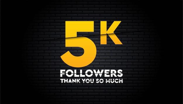 Gracias plantilla de seguidores de 5k.