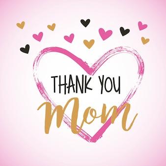 Gracias tarjeta de mamá