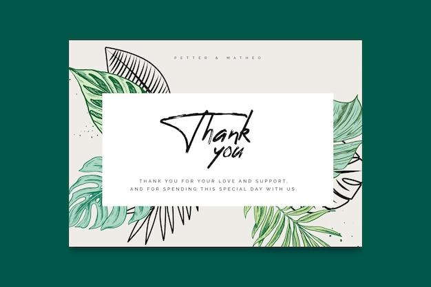 Gracias por venir plantilla de tarjeta de boda