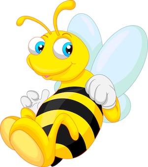 Graciosa abeja de dibujos animados