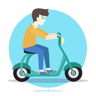 Gracioso diseño de moto eléctrico