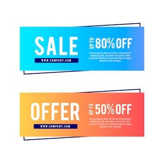 Gradient modern sale banners set