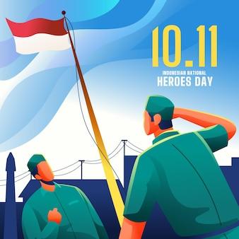 Gradient pahlawan / día de los héroes