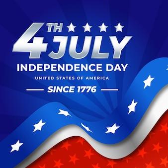 Gradiente del 4 de julio ilustración del día de la independencia