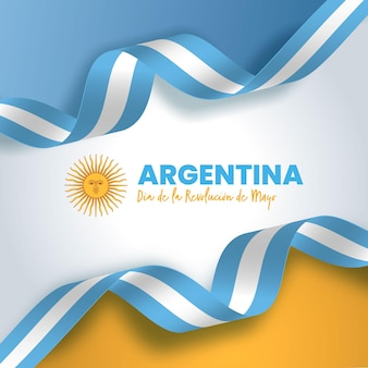 Gradiente argentino dia de la revolucion de mayo ilustración
