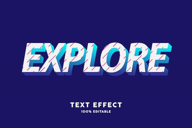 Gradiente azul sobre blanco, con efecto de texto de patrón de línea roja