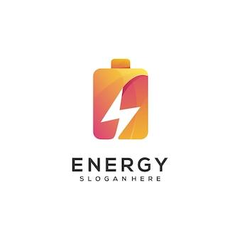 Gradiente de batería de ilustración de logotipo