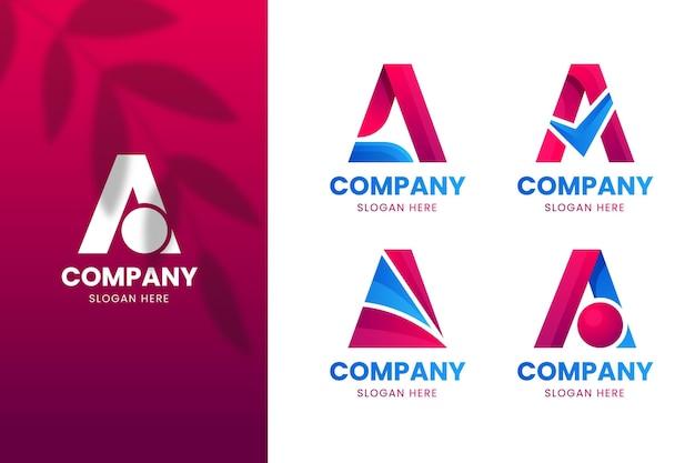 Gradiente de una colección de plantillas de logotipos