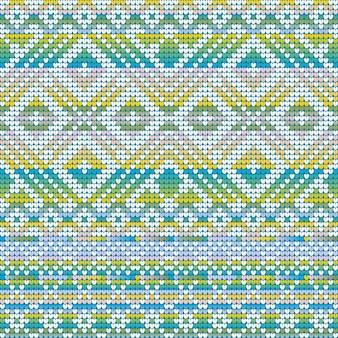 Gradiente de colores fríos de patrones sin fisuras de suéter feo de navidad