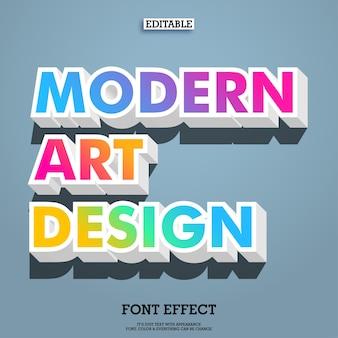 Gradiente colorido diseño de fuente de arte moderno