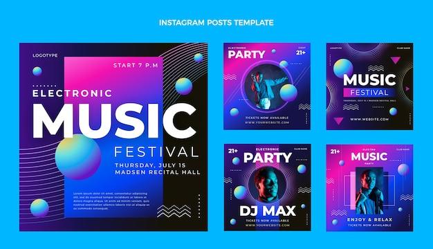 Gradiente colorido festival de música ig post