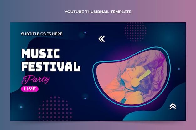 Gradiente colorido festival de música en miniatura de youtube