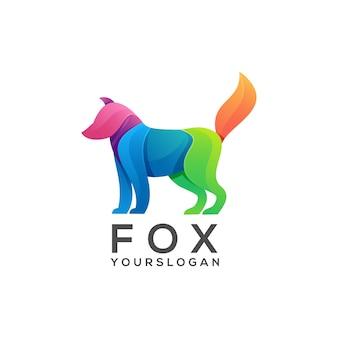 Gradiente colorido logo fox
