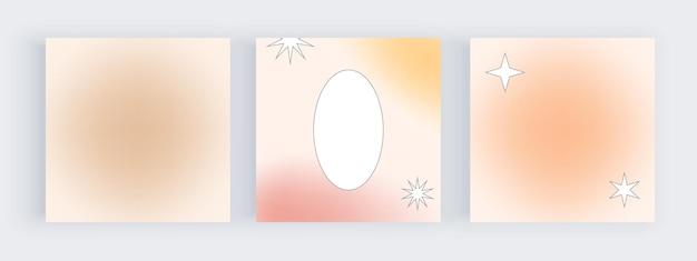 Gradiente de desenfoque para banners de redes sociales con marco geométrico circular