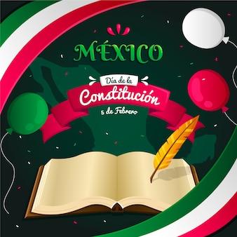 Gradiente del día de la constitución de méxico