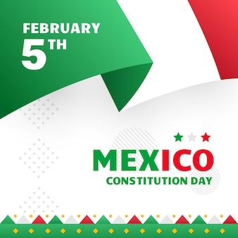 Gradiente día de la constitución de méxico