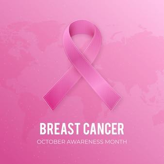 Gradiente día internacional contra el cáncer de mama ilustración