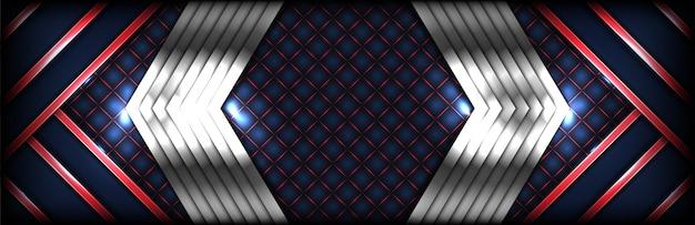 Gradiente de fondo abstracto moderno azul con forma diagonal de colores rojos