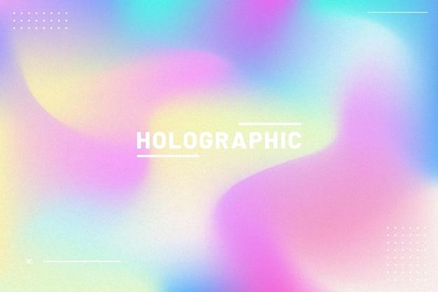 Gradiente con fondo de banner holográfico de grano