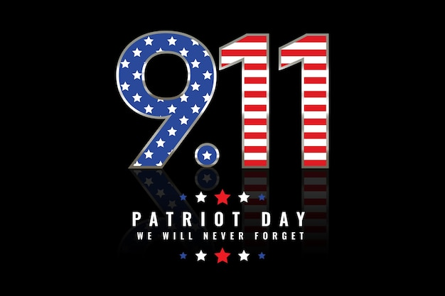 Gradiente de fondo del día del patriota 9.11
