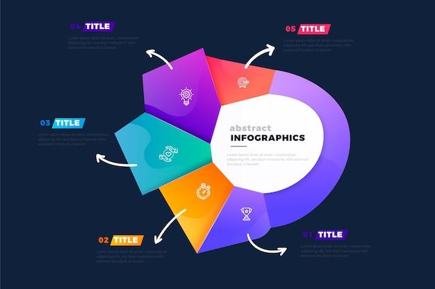 Gradiente forma abstracta infografía