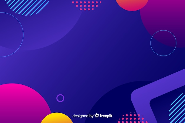 Gradiente de formas geométricas de colores