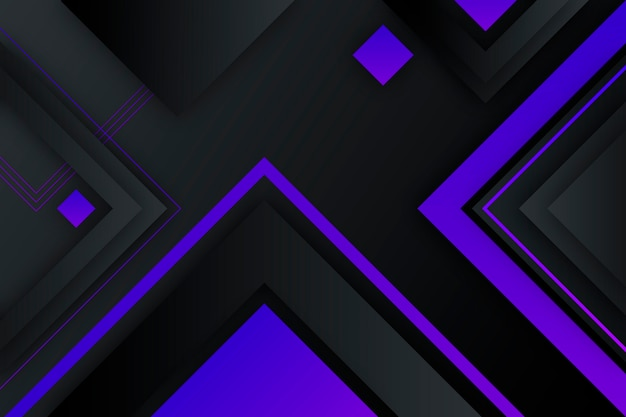 Gradiente formas geométricas sobre fondo oscuro